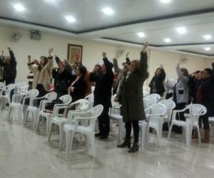 Vigilia de oração, em Alegrete.
