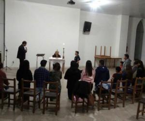 Tarde de Oração com jovens, em Uruguaiana.