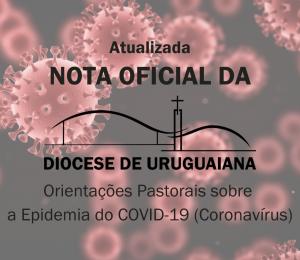 Novas Orientações Pastorais da Diocese sobre a Epidemia do COVID-19 - Coronavírus