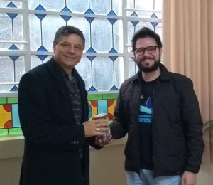 Coordenador do Serviço de Evangelização da Juventude do Estado visita a Diocese de Uruguaiana
