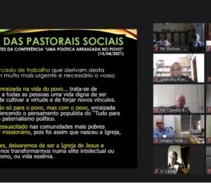 Padres da Diocese refletem sobre a importância das pastorais sociais em reunião on-line