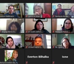 Secretárias paroquiais participam de encontro diocesano on-line