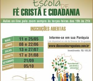 Diocese de Uruguaiana promove Escola de Fé Cristã e Cidadania on-line